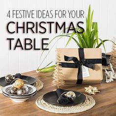 Set the scene for Christmas Day dining with these festive decorating ideas. Festival Decorations, Table Decorations, Festive, Decorating Ideas, Basket, Scene, Make It Yourself, Dining, Christmas
