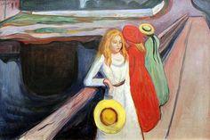 Les filles du port E Munch 1901
