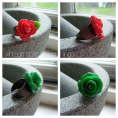 Vintage style flower rings - currently sold out!