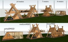 glamping mod perfect for nature camping resort model max obj skp 5 Find the perfect camping gear for your camping needs Camping Resort, Camping Glamping, Bamboo House Design, Tiny House Design, A Frame Cabin, A Frame House, Tiny House Cabin, Cabin Homes, Jungle House