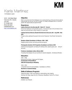 simple resume design ideas that work