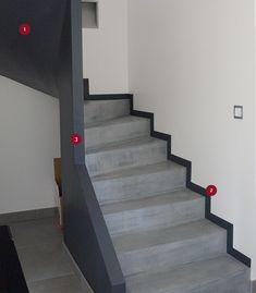Escalier en b ton sur mesure finition b ton min ral for Beton mineral