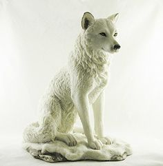 Sitting White Wolf Statue | Ghost Wolf Figurine | Hand Painted by Veronese Seven Secrets Gallery http://www.amazon.co.uk/dp/B017KQ2DVU/ref=cm_sw_r_pi_dp_zvA3wb09YAXQ7