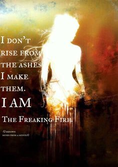 I am the freaking Fire ♡ Phoenix Quotes, Goddess Quotes, Much Wow, Dont Underestimate Me, Fire Quotes, Aquarius Quotes, Anti Religion, Strength Of A Woman, Today Quotes