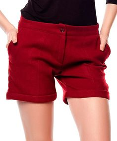 Look what I found on #zulily! Bordeaux Cachet Shorts #zulilyfinds