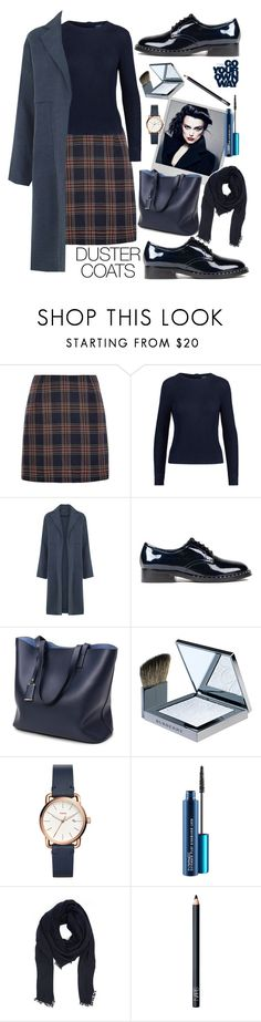 """""""Duster Coats"""" by creativejenerator ❤ liked on Polyvore featuring Louche, Ralph Lauren, Warehouse, Ash, Polaroid, Burberry, FOSSIL, Faliero Sarti and NARS Cosmetics"""