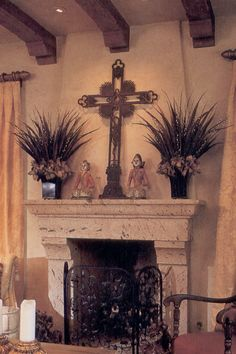 Hacienda fireplace
