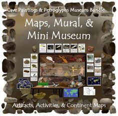 Cave Paintings and Petroglyphs--Museum Bundle from ThematicTeacher on TeachersNotebook.com -  (104 pages)  - Set up a hands on museum in your classroom where students can explore ancient rock art!