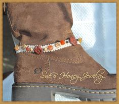 Boot Bling with Stone boot jewelry sold in pairs