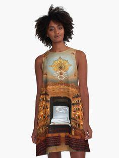 'Gran Teatro La Fenice - Venice' A-Line Dress by Hercules Milas European Trips, House Inside, Hercules, Venetian, Chiffon Tops, Line, Venice, Opera House, Designer Dresses