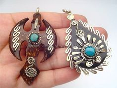 Coconut Peruvian Pendants  http://www.wholesaleperuvianjewelry.com