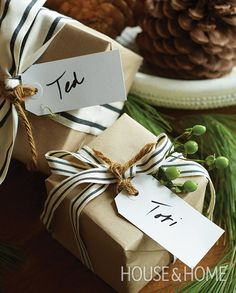 Stock up on shipping tags for the perfect personalized present topper. | Photographer: Virginia Macdonald | Designer: Tim Johnson, Debra Francesconi and Victoria Leach