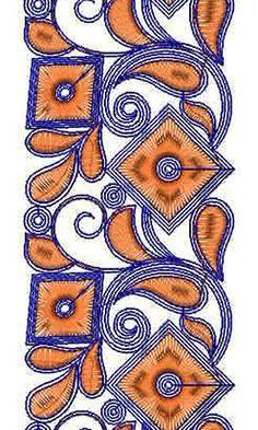 Designer Anarkali Dress Lace Embroidery Design