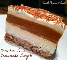 Pumpkin Spice Cheesecake Delight
