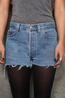 Vintage Renewal Dark Wash Raw Cut 501 Shorts