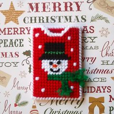 Plastic Canvas: Snowman Gift Card Holder