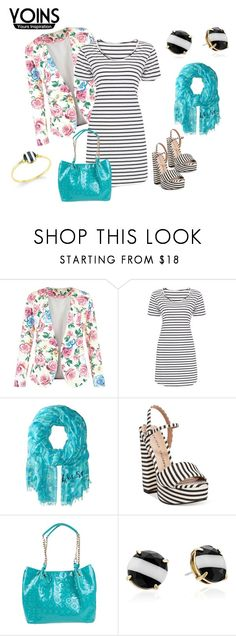 """""""http://www.yoins.com/Striped-Dress-p-982152.html?currency=GBP"""" by giulia-sicilia ❤ liked on Polyvore featuring New Look, Kate Spade, Chinese Laundry and Morgan De Toi"""