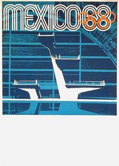 Mexico Olympics 1968 - Diving Poster