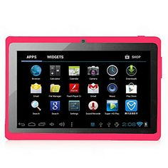 Android 4.0.4 Tablet with 7 Inch  Capacitive Touchscreen and Dual-Camera(512M/8G/WiFi/2 Colors Selectable) – USD $ 76.35