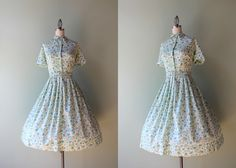 1950s dress / vintage 50s 60s soft cotton day dress by HolliePoint, $58.00