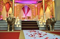A royal wedding - complete with elephants. By INDS Decor