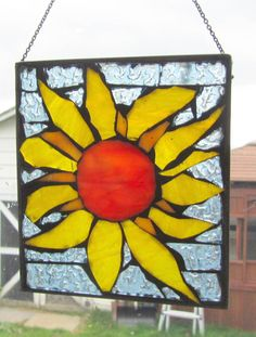 Mosaic Yellow Flower   Stained Glass SunCatcher or by HildeMosaics, $26.00