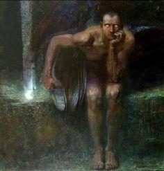 """""""Lucifer"""" by Franz Von Stuck"""