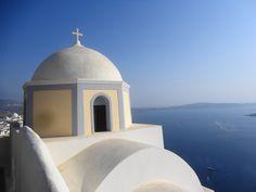Fotografía: Paulo Portugal Santorini, Portugal, Taj Mahal, Ceiling Lights, Lighting, Building, Travel, Home, Decor