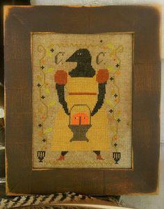 Primitive Cross Stitch Pattern  Cornelia Crowe by FiddlestixDesign
