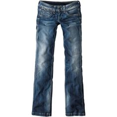 PEPE JEANS Jeans Straight Leg ($130) found on Polyvore
