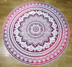 Check out this product on Alibaba.com App:Hippie Bohemian Pink Ombre Mandala Round Tapestry Beach Throw Roundie Towel Yoga Mat Wall Hanging Boho Beach Towel https://m.alibaba.com/v2eiqu