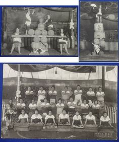 "1910's Japanese Postcards : Female Sumo Wrestlers  ""Ishiyama Onna Kakuryoku ( Female Sumo)"" Commemorative for Visiting America & Returning to Japan / wrestling girl old / vintage antique old art card / Japanese history historic paper material Japan"