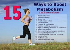 15 Ways to Boost Metabolism