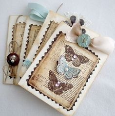 make vintage thank you cards by gobahnbahngo!
