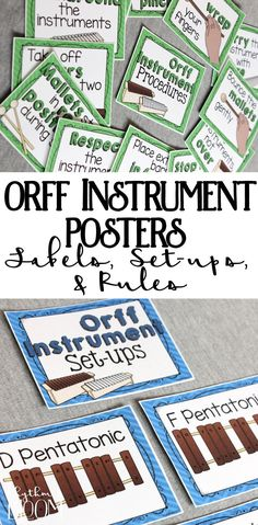 Orff posters for every music classroom - these are the best music education tool that I have in my classroom!