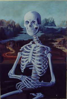 0322 Jules Kmetzko - Mona Lisa as a skeleton