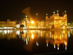 """The Golden Temple, respectfully known as """"Darbar Sahib"""", is located in the city of Amritsar, Punjab. It is the holiest shrine in Sikhism."""