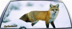 Fox in Snow Rear Window Graphic