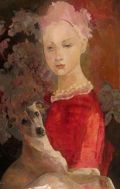 Françoise de Felice Madame huile sur toile dimension 55x37