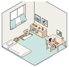 My friend Gina recently drew this Montessori toddler room for me. It looks fantastic! Are you looking for ideas for a Montessori toddler bedroom or perhaps it's something to think about for the future? With all of my Montessori spaces, I keep these principles in mind; Do what works for...