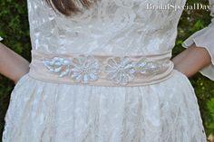 Cream Bridal Accessories Bridal Sash Cream by BridalSpecialDay