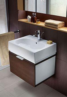 Koło: Twins - zestaw łazienkowy umywalka z misą prostokątną 60 cm + szafka kolor, wenge - zdjęcie