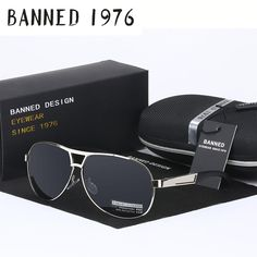 8386d4f317 BANNED 1976 Classic Metal Aviator Sunglasses Polarized Sunglasses