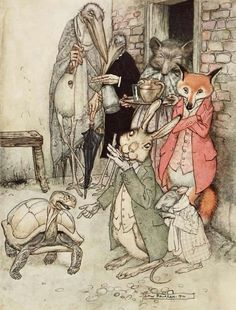 Aesop's Fables illustrated by Arthur Rackham