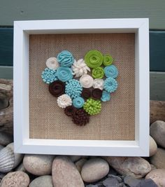 Hey, I found this really awesome Etsy listing at https://www.etsy.com/listing/194633769/bespoke-framed-felt-flower-heart-an
