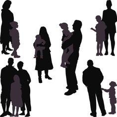 Vectores libres de derechos: Adults and Children Series