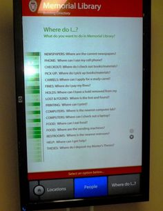 University of Wisconsin - Madison Libraries - Memorial Library - Digital signage