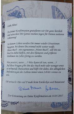 Deckblatt mit Erklärungen zum Wenn-Buch.
