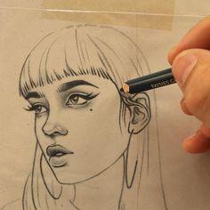 "Rik Lee no Instagram: ""Sketches on scraps_____✍ #sketch #illustration #process"""