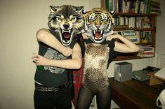 animal mask photography, animal masks, animal print, badass, belt, bodysuit - inspiring picture on Favim.com on We Heart It
